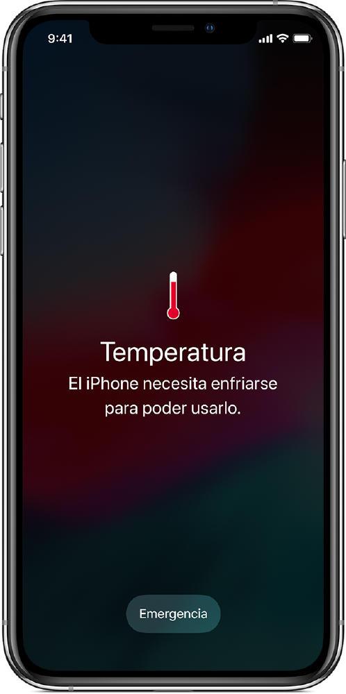 alerta temperatura iphone