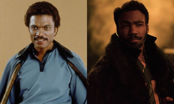 A la izquierda, Billy Dee Williams. A la derecha, Donald Glover