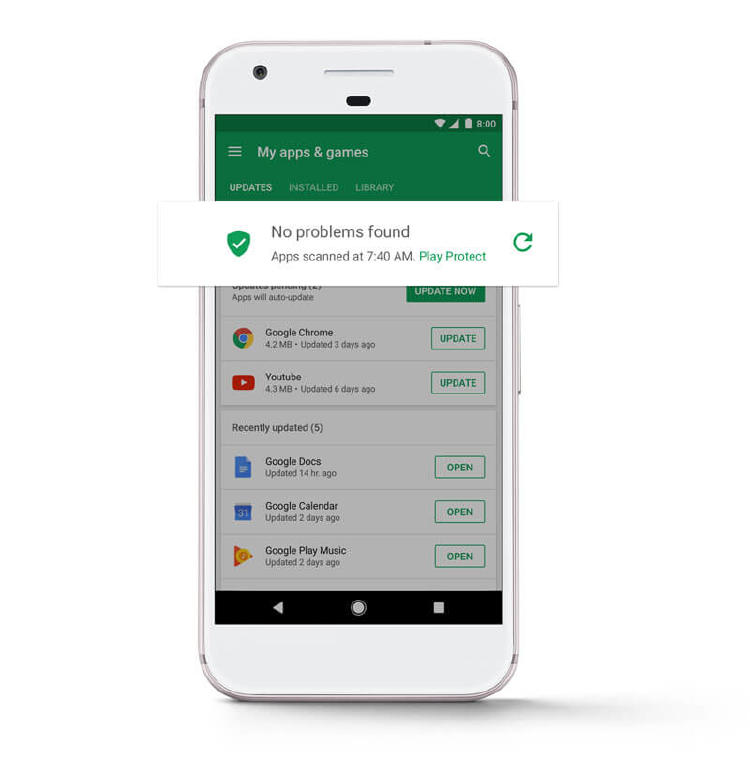 google play protect certificado