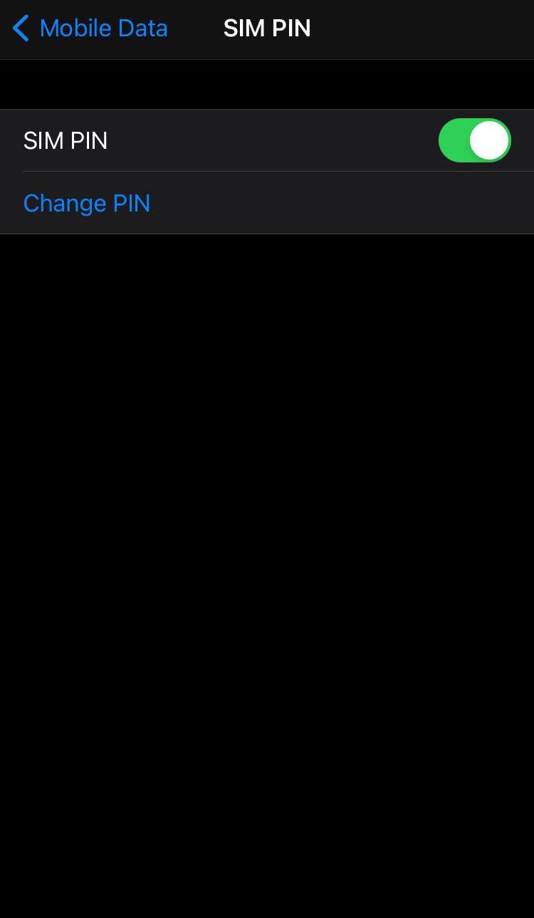 cambiar PIN iOS