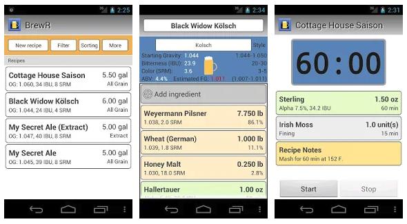 BrewR app para hacer cerveza artesana