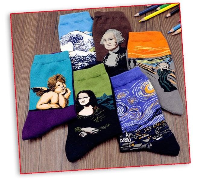 Calcetines con clásicos del arte