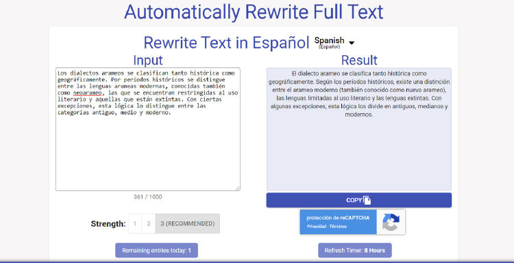 Text Rewriter and Spinner