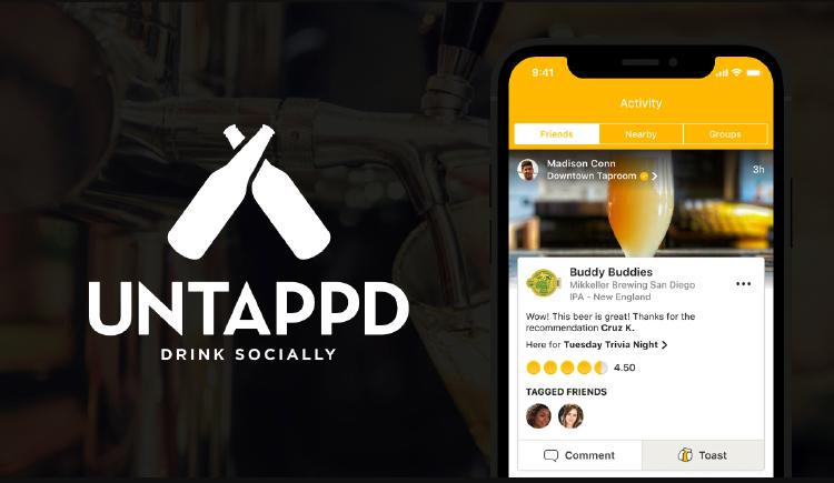 Untappd aplicación de cerveza