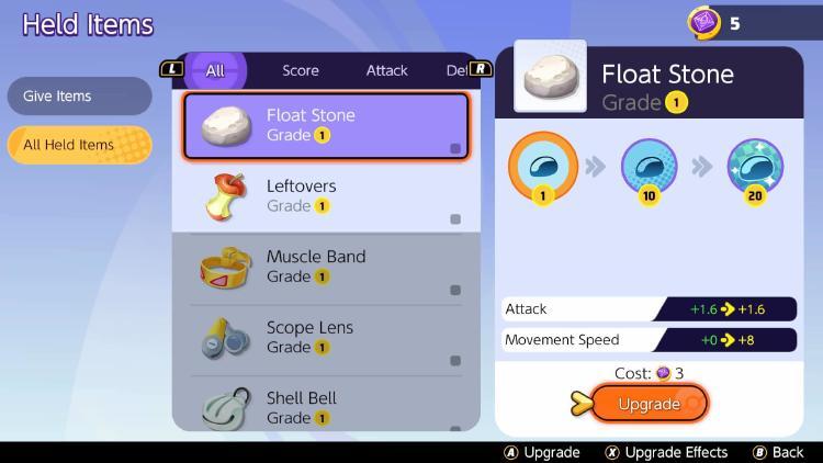 guía items Pokémon Unite