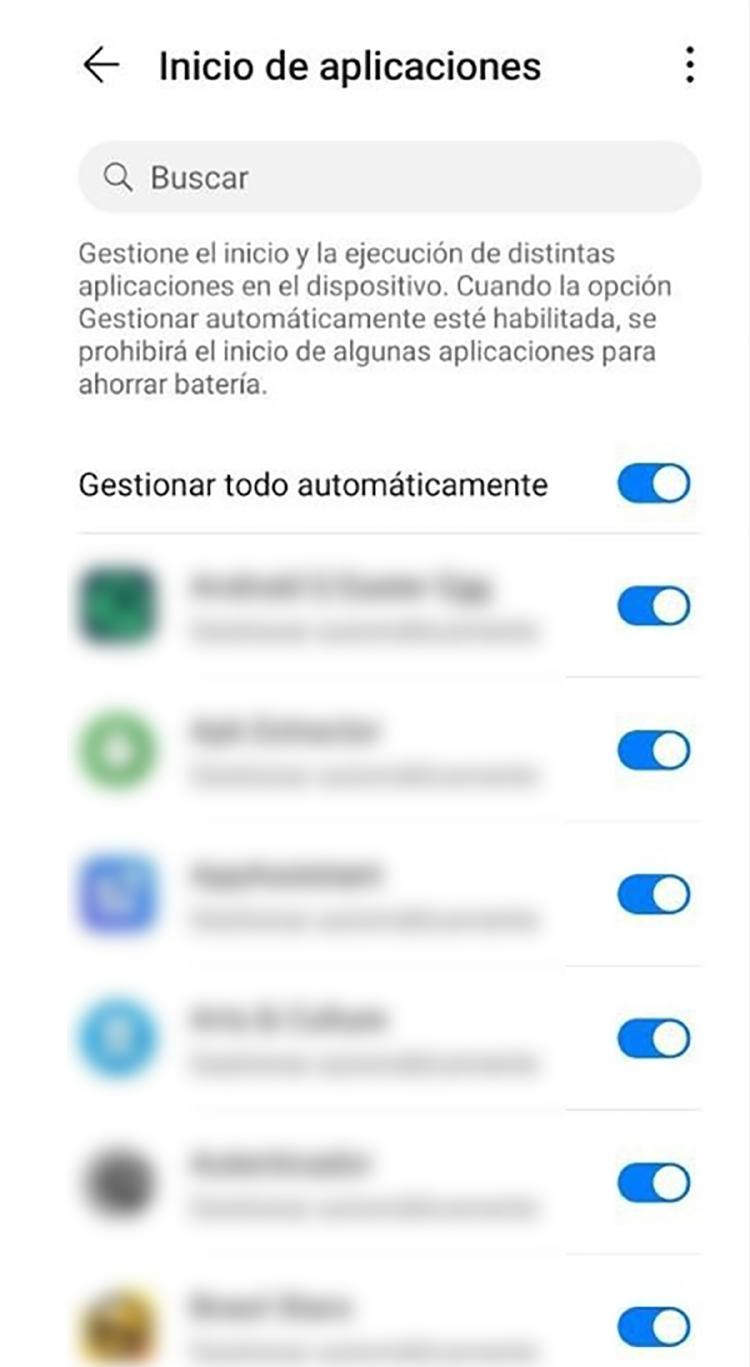 inicio automático app android