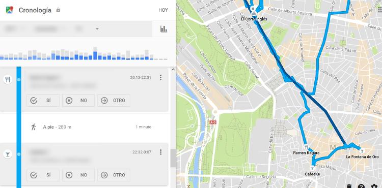 cronología google maps