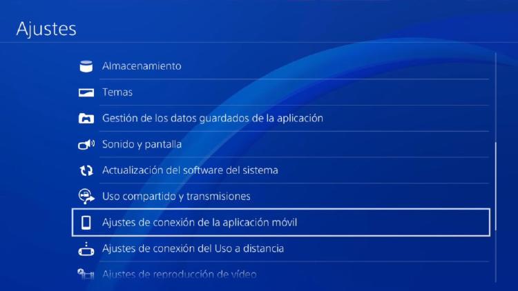 ajuste de uso a distancia PlayStation4