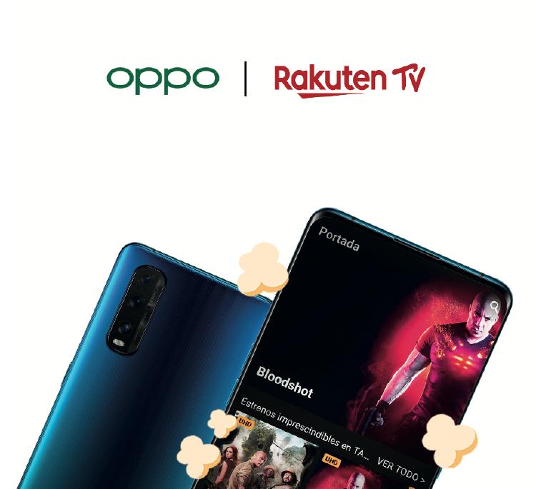 OPPO y Rakuten TV te traen el cine a tu casa