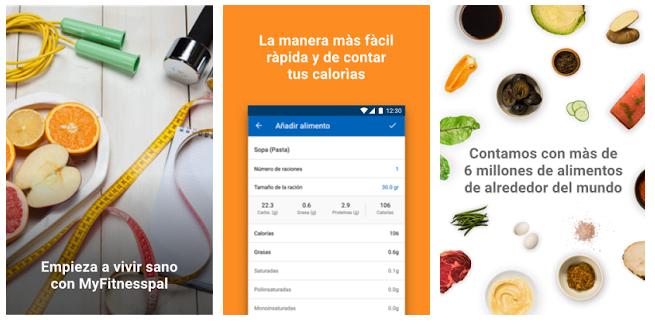 MyFitnessPal, contador de calorías en el móvil