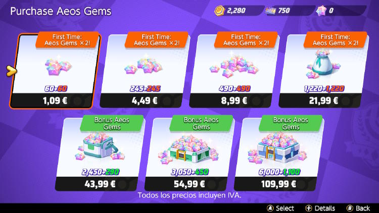 comprar aeo gems Pokémon Unite