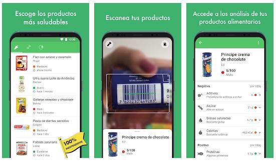 Yuka app para escanear alimentos