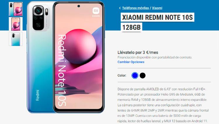 Redmi Note 10S Yoigo