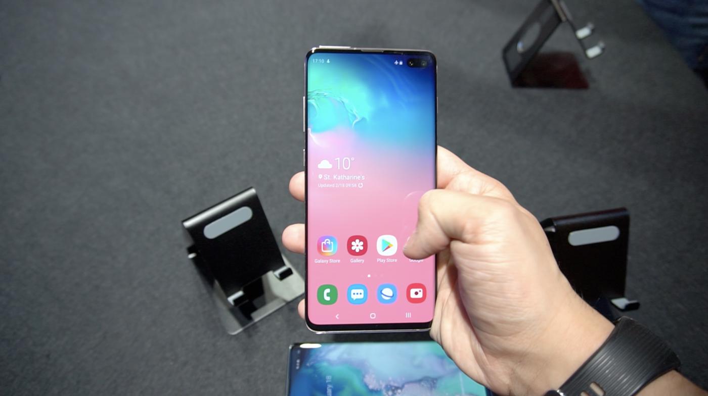 Diseño Galaxy S10+