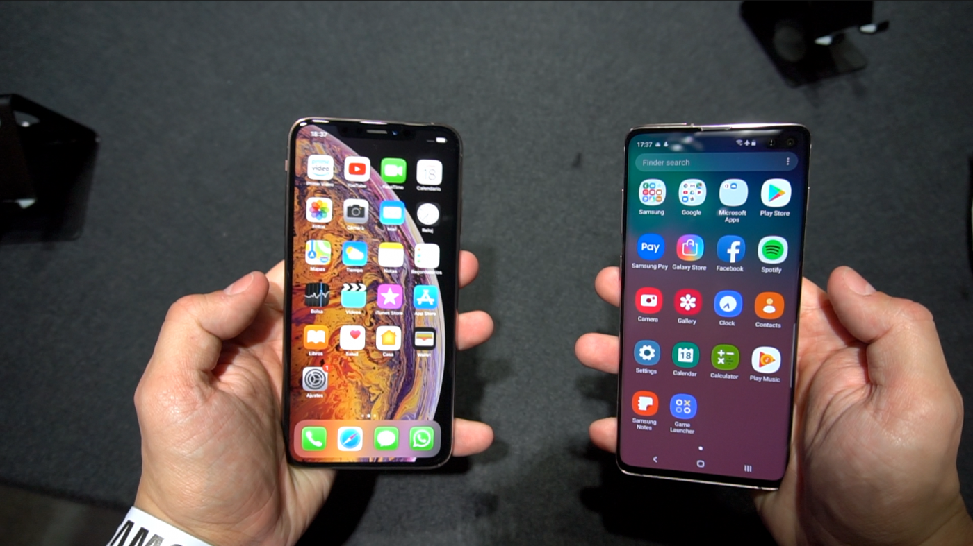 Pantalla iPhone Xs Max vs Samsung Galaxy S10+