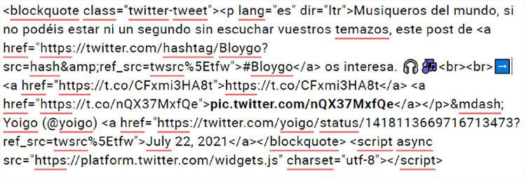 html embed tuit
